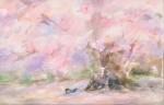 成川 雄一/NARIKAWA yuichi:花下 M40 水彩