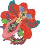 中山 里美/NAKAYAMA satomi:Scarlet Flora 変130 ミクストメディア