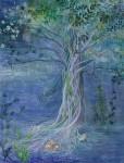 髙橋かずこ/TAKAHASHI kazuko:夜の木 F80 アクリル