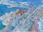 梶谷 修弘/KAJITANI nobuhiro:漁港周り F60 油彩