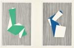 舩坂 芳助/FUNASAKA yoshisuke:VERTICAL LINES ORIGAMI MM306,MM343 45×30 木版