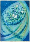 佐藤千恵子/SATO chieko:Connection, 白い花Ⅰ 71×51 平版