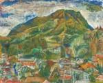 池田 敏郎/IKEDA toshiro:山村の風景Ⅰ F100 油彩