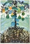 片岡 啓子/KATAOKA keiko:Potager島Ⅶ 125×82 木版