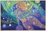 吉沢 敏之/YOSHIZAWA toshiyuki:銀河フェスティバル 60×91 木版
