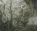 狩野三也子/KANO miyako:水の庭-深い胸の奥でⅡ F130 油彩