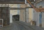 松本 東樹/MATSUMOTO haruki:引込線のある工場 P50 油彩