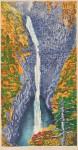 桐野 幸子/KIRINO sachiko:久遠の響き・称名滝 81×42 木版