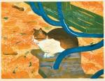 工藤美代子/KUDO miyoko:これから19-2 45.5×60.5 木版