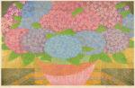 関野 洋作/SEKINO yosaku:紫陽花 52×82 木版・金箔