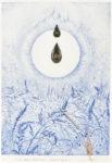 竹田 智美/TAKEDA satomi:その泪が誕生の始まりなれば 36×25 銅版・エングレーヴィング・コラージュ