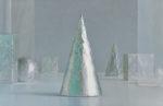 桑嶌美代子/KUWASHIMA miyoko:Standing Still B 117×182 油彩