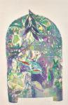 大久保澄子/OKUBO sumiko:森への誘いXII~名残りの色H-1- 90×60 木版・銅版・コラグラフ