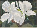 仲野 壽志/NAKANO hisashi:Ginger Lily 2021-1 45.5×60.6 木版
