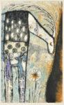 髙橋キョウシロウ/TAKAHASHI:kyoshiro Dream of Deer-13 69×42 コラグラフ・ドライポイント