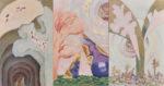 根廻  晶/NEMAWARI masa:再生(白い木のある風景) 145.5×277.4 油彩
