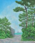 入江  観/IRIE kan:松林とえぼし岩 F100 油彩