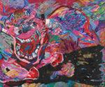 仲宗根美智子/NAKASONE michiko:春を呼ぶ 164×193 ミクストメディア