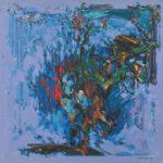 前川 鋼平/MAEKAWA kohei:壁の中の人 131×131 油彩