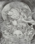 西川 光三/NISHIKAWA mitsuzo:飛 そして 視 F100 ペン画