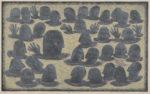 林  和一/HAYASHI waichi:語り合う人々 51×83 木版