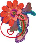 中山 里美/NAKAYAMA satomi:Vermilion Flora 194×162 ミクストメディア