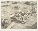 小浦  昇/KOURA noboru:氷の配達 12×15 銅版