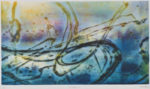 辻  義弘/TSUJI yoshihiro:光の軌跡(2) 42×74 木版拓刷り
