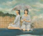安田 祐子/YASUDA yuko:雨宿の日々 F130 油彩