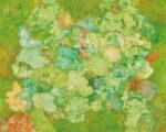 奥野由美子/OKUNO yumiko:世界地図 2021-1 F100 油彩