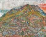池田 敏郎 /IKEDA toshiro:山の町の風景1 F100 油彩