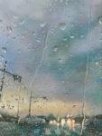 本島 雅之/MOTOJIMA masayuki:帰路につく~Rainy Day~ F80 油彩