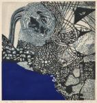 田中 洋子/TANAKA yoko:Poem indigo 19 64×60 木版