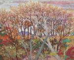 石本 和子/ISHIMOTO kazuko:林の向こうⅡ F100 油彩